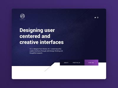 Portfolio site idea 2 typography space minimal blue inspiration web design web portfolio design clean aesthetic
