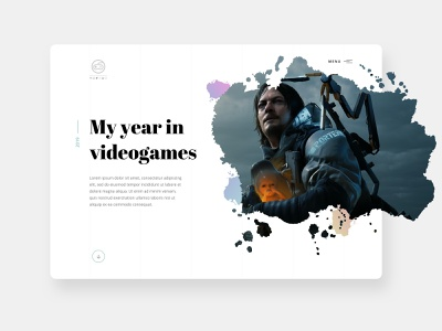 A year in videogames design web design typography watercolor portfolio inspiration clean videogame minimal aesthetic website