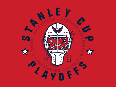 Caps Playoffs stanley cup illustration hockey mask typography washington capitals nhl