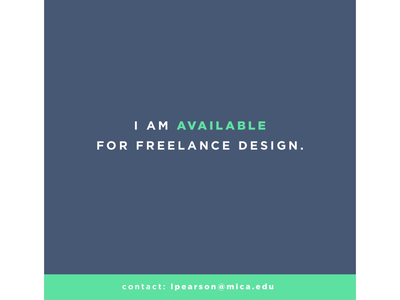 Available for Freelance!