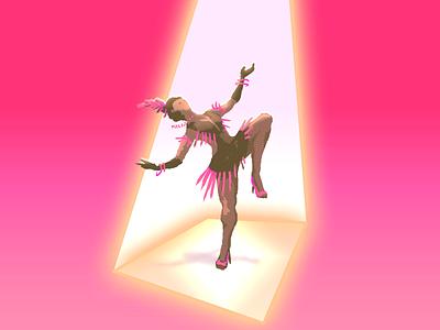 Swingin'! flapper 20s dancing music swing dance digital drawing art cover