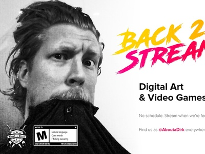 AboutaDirk - the logo gaming livestream twitch