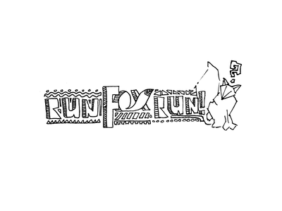 Run Fox Run! drawn design simple logo