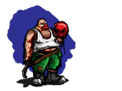 Happy days! sketch game funny boxing glove clown