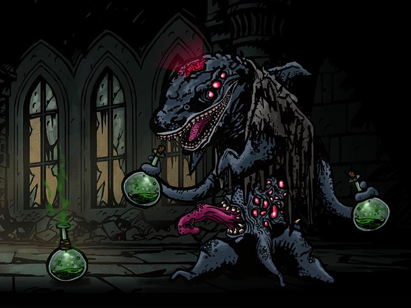 Darkest Dungeon - Dolphin Chemist aboutadirk chemist dolphin eldritch sprite boss games video twitch dungeon darkest