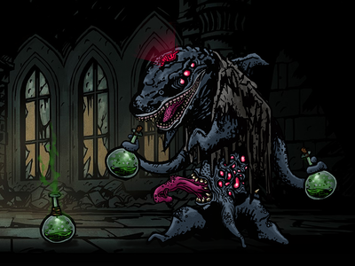 Darkest Dungeon - Dolphin Chemist aboutadirk chemist dolphin eldritch sprite boss games video twitch dungeon darkest