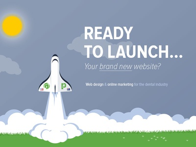 Ready to launch? marketing new brand dentist design website launch space
