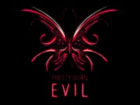 Pretty Darn Evil videogame game wow butterfly pink logo guild warcraft