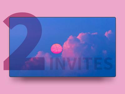 two invites! sun two draft invitaion invites