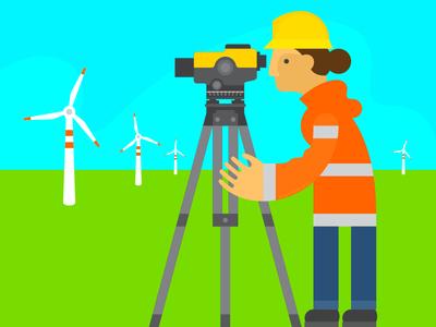 Wind Industry women in engineering women in science go green green energy clean energy jose ortiz sustainability illustration design