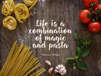 Life is... mockup italy quote food download recipe cuisine rustic wooden surface ingredients your text here pasta