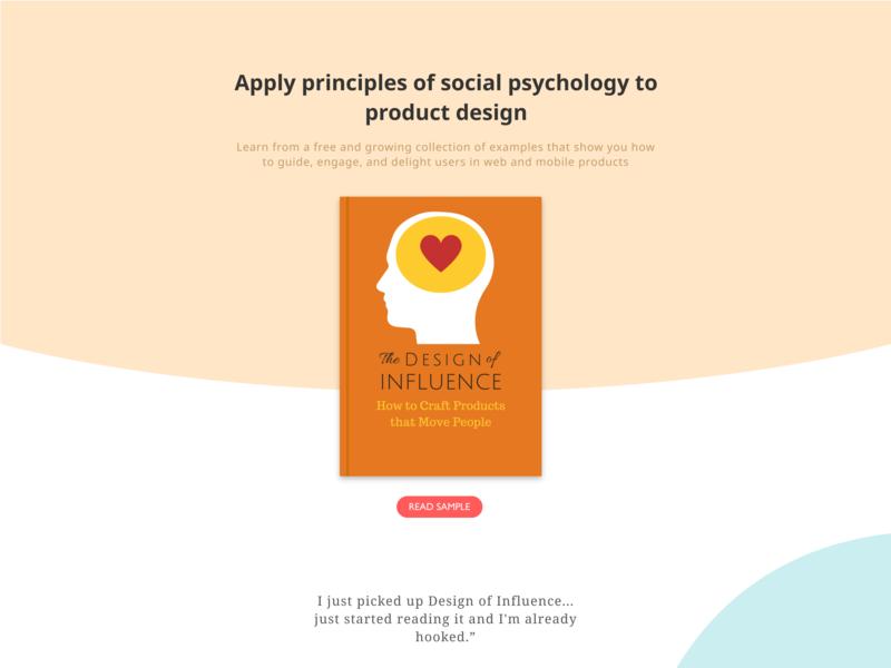 Design of Influence landing page ebook landing page web  design
