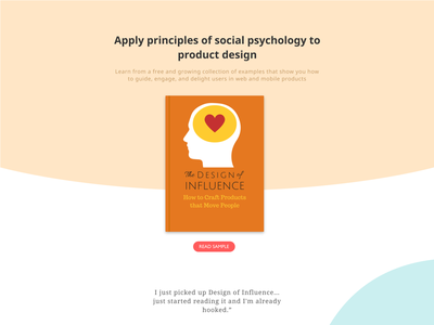 Design of Influence landing page ebook landing page web  design
