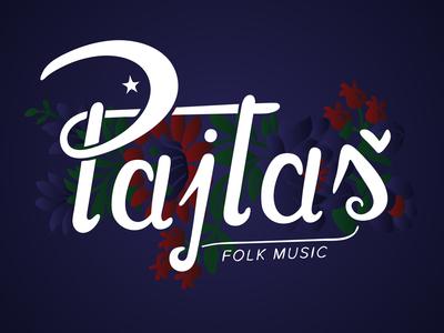 Pajtas Logo design typography branding vector logo illustration