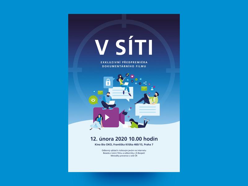 O2 Chytrá škola – V síti, poster