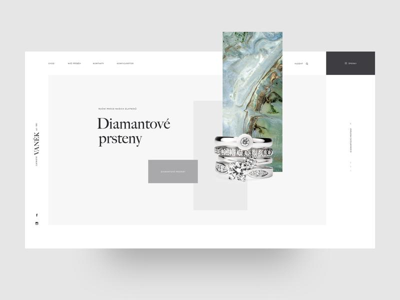 Zlatnictví Vaněk – webdesign, homepage