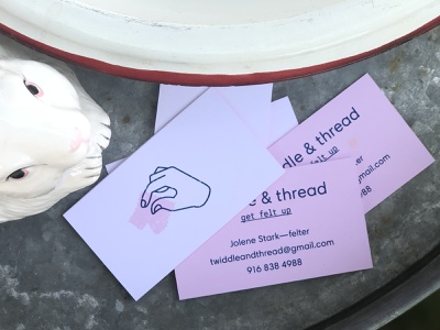Twiddle & Thread Business Cards makers mart craft fair cards logo branding brand
