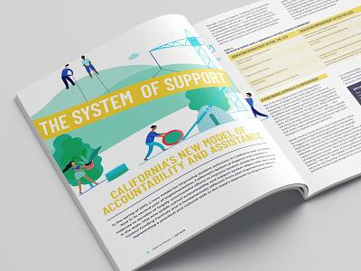 California School Board Association Fall 2018 education school layout design magazine editorial design