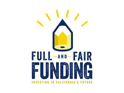 Full and Fair Funding logo brand california pencil identity design school education logo