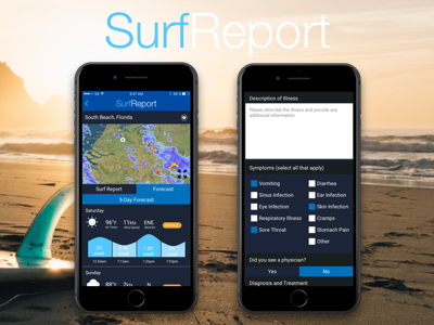 SurfReport impact design surfing ux design