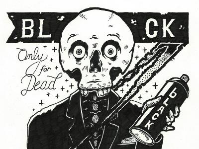 BLACK BONES illustration paper
