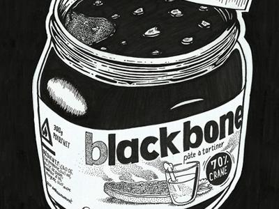 BLACK BONES CONTEST black ink illustration hand made
