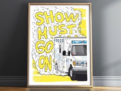 Show must go on ! lighton illustrator vector illustration