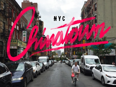 Chinatown photography typography