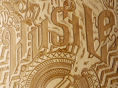 Le Shape x Lighton (Skateboard) illustration typography wood skateboard