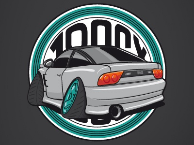 180SX - Zombies Drifters (ZD) vector illustrator