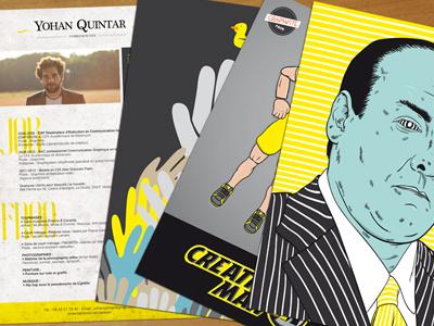 Curriculum vitae vector illustrator indesign print