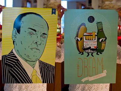 Tony Soprano & Dream Team print vector illustrator