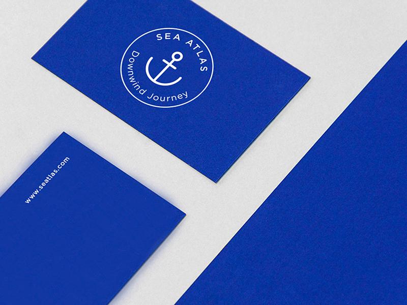 Seatlas Cards 2 logo brand design corporative card sea branding