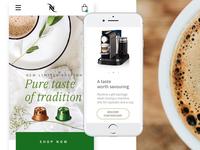 Pure taste - Nespresso Mobile