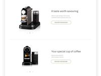 Pure taste - Nespresso product layout
