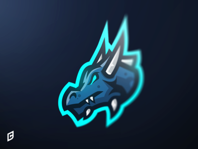 Dragon mascot logo logo e-sports