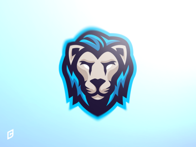 Lion mascot logo sports