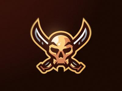 Skull mascot gaming sports logo mascot skull esports