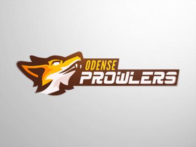 Odense Prowlers. sports fox mascot logo gaming esports