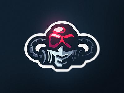 Gas Mask branding design premade gaming logo mascot esports sports mask gas skull