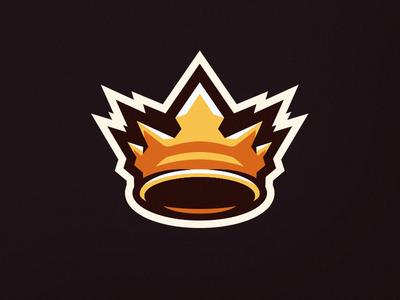 Crown mascot logo esports illustration sports mascot logo branding crown