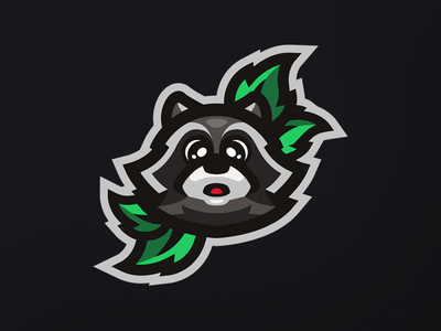 Cute raccoon esports illustration sports vector mascot logo logo branding mascot raccoon cute animal
