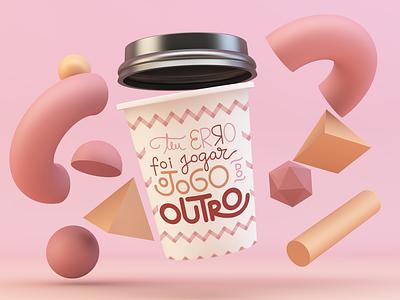 Teu erro foi jogar o jogo do outro vector mockup design illustration lettering