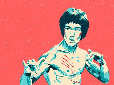Bruce Lee - Enter the Dragon portrait movie poster movie design art vector color illustration enter the dragon bruce lee