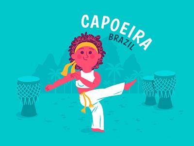 Capoeira Dance for Time Well Spent dance characterdesign character brazil capoeira art vector color illustration