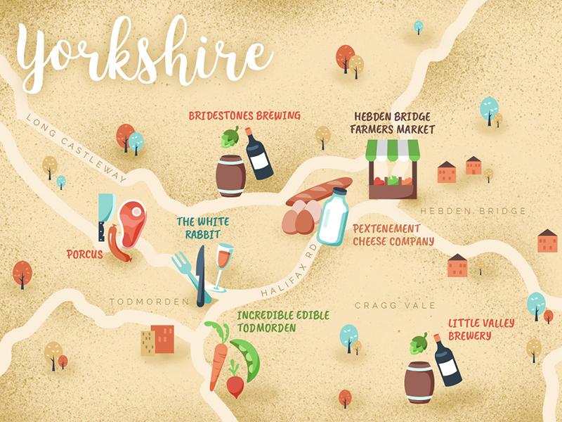 Yorkshire Foodie Map By Marta Colmenero Leon Dribbble Dribbble
