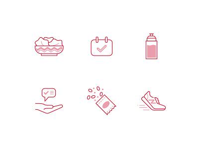 Icons - New Balance snack trainer water salad icon design iconography icon set icon vector ui illustration