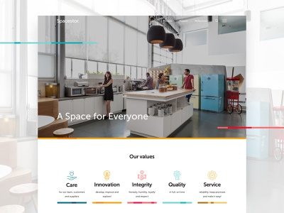 Spacestor - Our Values vector values icon design color web ui