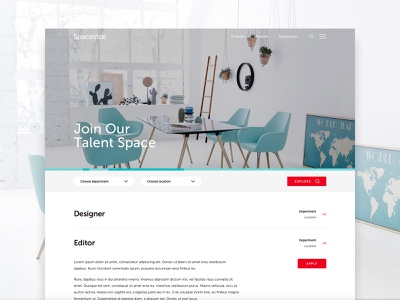 Spacestor - Join Us design web ui join us careers page