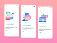 Onboarding Screen | Kaya : Wallet Apps onboarding illustration onboarding ui illustraion wallets saving concept interface ux design simple ui wallet apps wallet kaya designspace iconspace sebo